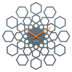 Buy Karlsson Sunshine Hexagon Clock - Grey from our Wall Clocks range at Red Candy, home of quirky decor. Wall Clocks Uk, Office Wall Clock, Silver Wall Clock, Unusual Clocks, Living Room Orange, Black Clocks, Kitchen Clocks, Wall Clock Design, Sculptures