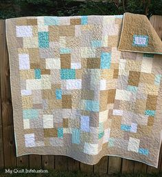 My Quilt Infatuation- Sand and Sea Glass  Double Slice Quilt