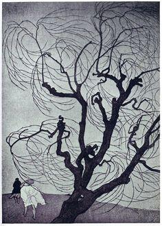 emil orlik   woodcut
