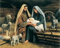 """For God So Loved the World"""" is a piece of art by Simon Dewey in christmas nativity clipart lds collection - ClipartXtras Pictures Of Christ, Bible Pictures, Simon Dewey, Nativity Painting, Image Jesus, Jesus E Maria, Lds Art, Birth Of Jesus, Baby Jesus"""