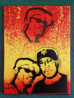 painting of guru and premier by AbstractGraffitiShop on Etsy, $40.00