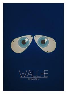 WALL-E, a Pixar Film. Minimalist Poster.