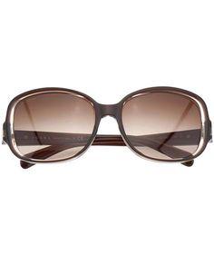 Prada: Damen Sonnenbrille, braun von Prada