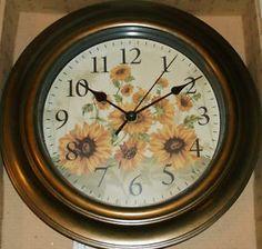 Country Sunflower Wall Clock Better Hu0026G   Kitchen/Bedroom/Hall//Living Rm  Decor