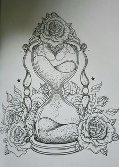 Adult Coloring Pages Tattoos Best Of Pin by Marissa On Tattoos Time Tattoos, Body Art Tattoos, Tattoo Drawings, Sleeve Tattoos, Cool Tattoos, Free Adult Coloring Pages, Cool Coloring Pages, Tattoo Oma, Hourglass Tattoo