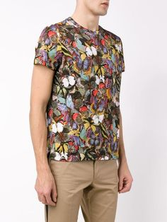 Valentino 'Camubutterfly' graphic  colorful men's T-shirt