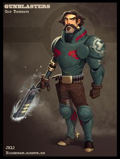 Colt Tombgrave Picture (2d, sci-fi, soldier, character, cartoon)