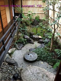 Dry Garden, Olive Garden, Indoor Garden, Outdoor Gardens, Zen Gardens, Black Garden, Garden Path, Garden Tips, Small Japanese Garden