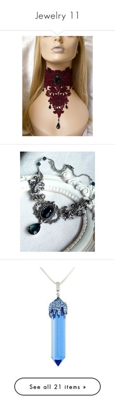"""""""Jewelry 11"""" by wolf-warrior ❤ liked on Polyvore featuring jewelry, necklaces, goth choker necklace, glass necklace, lace choker necklace, gothic choker necklace, cabochon necklace, victorian choker, bridal jewellery and bridal choker necklace"""