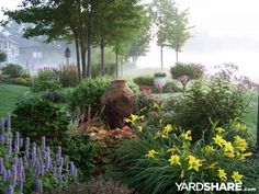 Golf Course Garden: This view is across the back lot line of the yard.