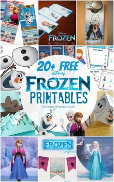 20+ Free Disney Frozen Printables Includes activity and coloring pages