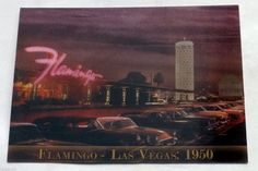 The Flamingo On The Strip Lenticular Postcards 1950 and 2011 Lot Of 5