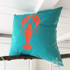 Outdoor Pillow, Outdoor Cushions, Lob, Keep Calm And Drink, Red Turquoise, Orange Red, Indoor Outdoor, Germany, Textiles