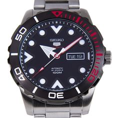 Chronograph-Divers.com - Seiko 5 Sports Automatic Black Dial Rotating Bezel Gents Day Date 100m Watch SRPA07K SRPA07, $137.00 (http://www.chronograph-divers.com/seiko-5-sports-automatic-black-dial-rotating-bezel-gents-day-date-100m-watch-srpa07k-srpa07/)