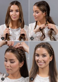 Braided hair ribbon