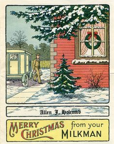 Greetings from the milkman. My Dad was a milkman for a stint.  Metal boxes on the front porch