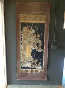 Hand-painted Scroll - Japan - late 18th Century, Mediocre condition, as depicted. http://auction.catawiki.com/kavels/457133-hand-painted-scroll-japan-late-18th-century