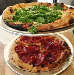 Bianco e verde and salume pies at Pizzeria Faulisi in Cary- NC Triangle Dining