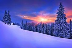 Beautiful Winter Snow Cottage Mountain Sky Tree Nature
