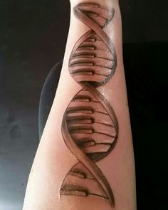 Dna piano tattoo …
