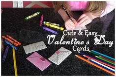 Super-simple, homemade Valentine's Day cards for young children to make! via @catherine gruntman Moss