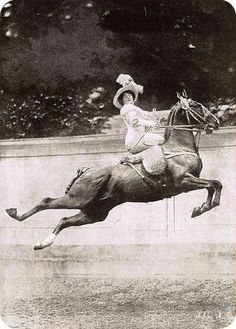 Wild Woman, in side saddle no less