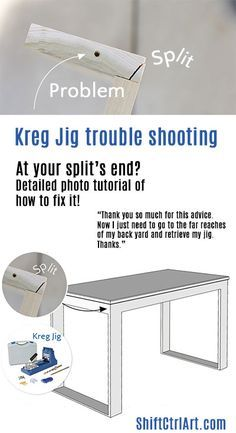 Kreg Jig trouble shooting avoid split ends pin! Yes! READ this FIRST, before attempting my project. ;)