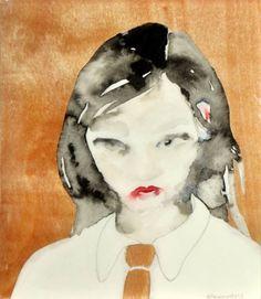"Saatchi Art Artist Lisa Krannichfeld; Painting, ""Wood Tie"" #art"