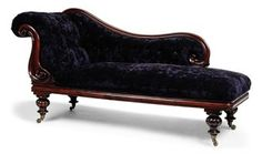 A VICTORIAN MAHOGANY CHAISE LOUNGE | MID-19TH century