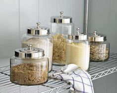 Glass canisters at WS $30-50