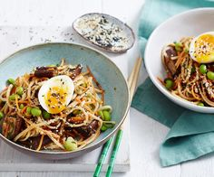 Miso Eggplant Salad with Noodles Recipe recipe   Food To Love