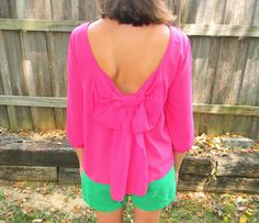 Pink Bowknot Top #oasap