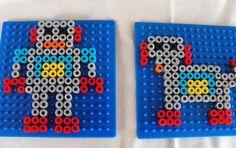 Perler beads robot and its dog