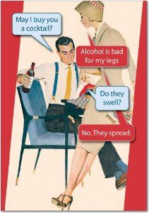 Bad For Legs Birthday Greeting Card by NobleWorks. $2.95. Do you need to send someone a funny card? Do your friends love funny jokes? NobleWorks is your Humor Company! In business for over 30 years, NobleWorks is always publishing funny birthday cards, funny Christmas cards, naughty birthday greetings, naughty holiday cards, and funny cards for all occasions. NobleWorks is a print-on-demand company, printing only what you order. Noble Works is dedicated to reducing waste w...