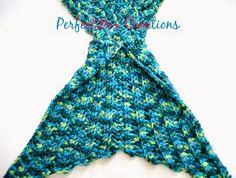 Crochet Mermaid Tail Fin Pattern Calda de sereia em croche pap/ receita