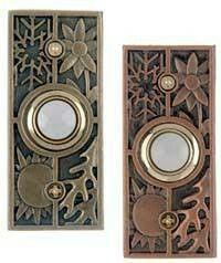 Antique Brass and Copper Design Push Button Craftsman Door, Craftsman Style Homes, Doorbell Cover, Doorbell Button, Textures And Tones, Front Door Colors, Bookshelves Built In, Metallica, Home Crafts
