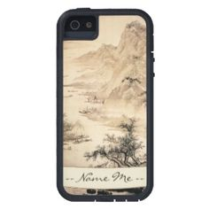 SOLD! - Vintage Chinese Sumi-e painting landscape scenery case Tough XTREME for iPhone 5 #vintage #chinese #scenery #painting #oriental #iPhone5 #apple #iPhone #smartphone #case #cover #customizable #name #custom #gift