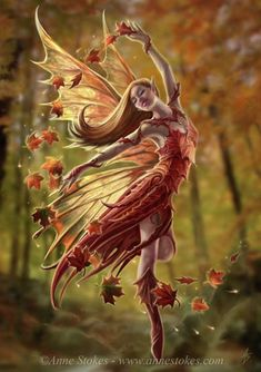 Dancing Fall Leaf Fairy