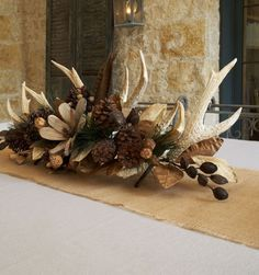 Fall Home Decor: Design tips and autumn decorating ideas. Find information and tons of fall decor curated by interior designer Tracy Svendsen. Antler Centerpiece, Centerpieces, Antler Decorations, Fall Home Decor, Autumn Home, Deer Decor, Decorating With Deer Antlers, Deer Horns Decor, Elk Horns