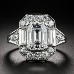2.45 Carat GIA: E /VS1 Emerald-Cut Diamond Ring