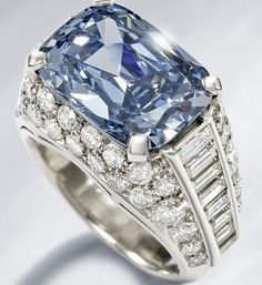 An extremely rare blue diamond ring will lead Bonhams Fine Jewelry. The ring was made circa 1965 and is estimated to fetch $2,000,000 at auction.