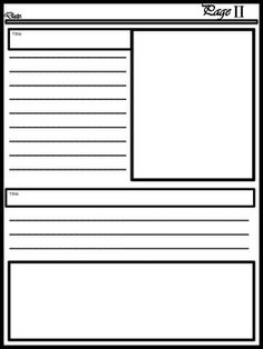 Blank Newspaper Template for Multi Uses Writing Lessons, Writing Skills, Blank Newspaper, Scroll Tattoos, End Of Year Activities, Cute Notes, Sunday School Lessons, Writing Paper, Creative Writing