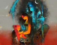 Shiva Art, Krishna Art, Hindu Art, Shiva Shakti, Lord Krishna, Ganesha Painting, Lord Shiva Painting, Lord Shiva Hd Images, Shiva Wallpaper