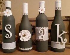 Soak Wine Bottle Decor by CraftySouthernCharms on Etsy