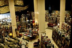 Inside The Last Bookstore in downtown Los Angeles