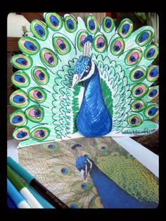 Just Add Art - Homeschool Art Classes for Sacramento Area Kids : Art Lesson: Pretty as a Peacock