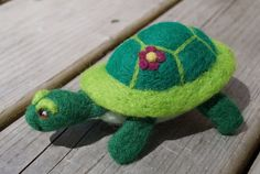 Red Twig Brown Twig - needle felt turtle filled with lavender