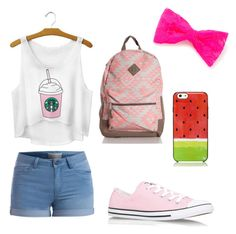 """""""Cute day out"""" by luisa-shield on Polyvore featuring Pieces, Converse, claire's and Kate Spade"""