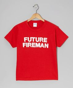 Take a look at this Red Future Fireman Tee - Kids & Adult by Crazy Dog on #zulily today!