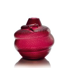 Serpent vase, Lalique crystal vase, discover all Lalique vases and other Lalique decorative items at lalique.com,蟒蛇花瓶